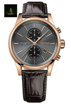Hugo Boss Mens Chronograph Watch with Brown Leather strap Hugo Boss Watches, Big Watches, Stylish Watches, Luxury Watches For Men, Dress Watches, Hugo Boss Man, Hugo Boss Homme, Hugo Men, Green Leather