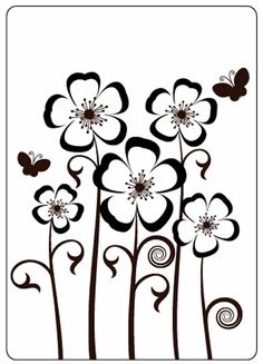 *Pre-Order - Crafts Too Embossing Folder - Pansies Stencil Patterns, Stencil Art, Stencil Designs, Embroidery Patterns, Silhouette Vinyl, Silhouette Cameo Projects, Silhouette Design, Stylo 3d, Wood Burning Patterns