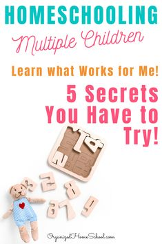 Learn 5 Secrets to Homeschooling Multiple Children Successfully from a mom who does it every day! Homeschooling multiple ages and grades can be done! Preschool Supplies, Preschool Schedule, Preschool Curriculum, Preschool Lessons, Lessons For Kids, Homeschooling, Kindergarten, Homeschool Diploma, High School Literature