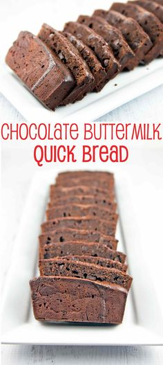 Chocolate Buttermilk Quick Bread: rich and tangy chocolate bread dotted with chocolate chips and covered in a rich chocolate glaze. Dessert? Breakfast? The lines have been blurred. {Bunsen Burner Bakery}