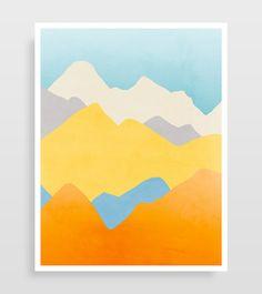 Colorful Wall Art Set of 3 Prints Abstract Art Prints Living