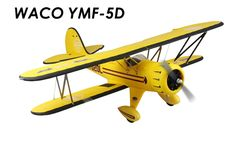 The Dynam Waco YMF-5 is falls right in line with the orginal...another 'classic' plane you can add to your fleet. The stock power system provides plenty of power, it flies like it on rails, cruises around at 50% throttle, and landing a a breeze