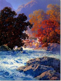 Maxfield Parrish (1870-1966) - Swiftwater Painting