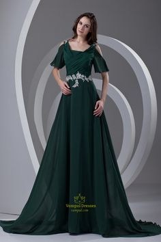Dark Green Mother Of The Bride Dresses With Sleeves And Jacket