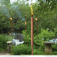 Copper Patio Torch