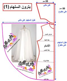 Dress Tutorials, Sewing Tutorials, Sewing Projects, Abaya Pattern, Gown Pattern, Pattern Cutting, Pattern Making, Dress Sewing Patterns, Clothing Patterns