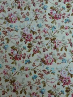 Cotton Fabric, Home Decor Fabric, Clothing Material, Quilt Cotton Rose Hill Lane by Robyn Pandolph for RJR Fabrics, Pink,Aqua, Brown Floral https://www.etsy.com/shop/suesfabricnsupplies