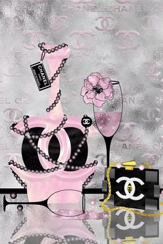 Chanel Wall Art, Chanel Decor, Chanel Art, Canvas Artwork, Canvas Art Prints, Chanel Background, Pink Wallpaper Girly, Chanel Wallpapers, Bullet Journal Cover Ideas