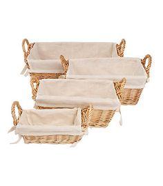 Bee Organized Nursery Baskets - Set of 4 - Burts Bees Baby