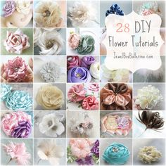 How to Make Fabric Flowers, Feather Flowers, Paper Flowers and Hair Bows   Master Tutorial Collection