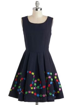 All Aboard Game Dress, #ModCloth