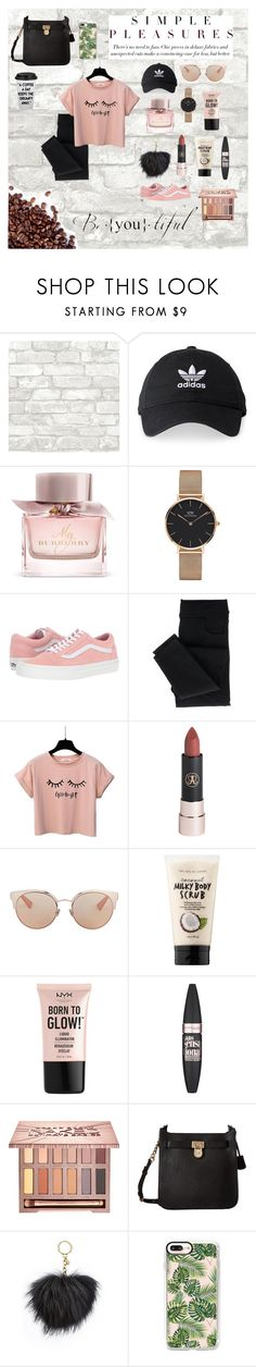 """""""Running late.."""" by emmyelf on Polyvore featuring adidas, Burberry, Daniel Wellington, Vans, Christian Dior, Sephora Collection, NYX, Maybelline, Urban Decay and MICHAEL Michael Kors"""