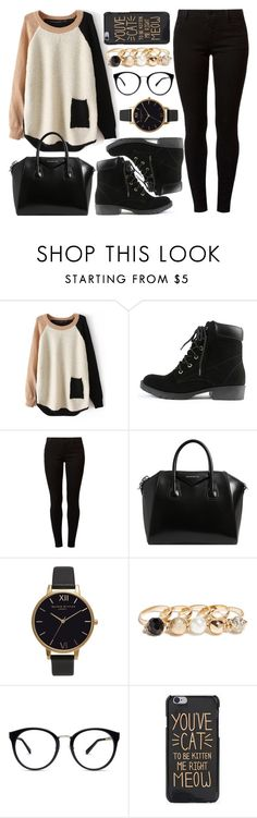 """Untitled #4203"" by natalyasidunova ❤ liked on Polyvore featuring Dorothy Perkins, Givenchy, Olivia Burton and GUESS"