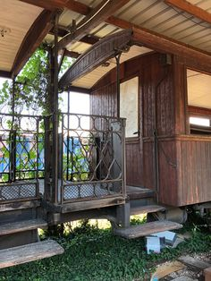 Pergola, Outdoor Structures, Cabin, House Styles, Home Decor, Train Station, Decoration Home, Room Decor, Outdoor Pergola