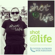 T-shirts for a Cause! Help vaccinate a child for life http://bit.ly/1tTbGnY Today is #WorldPneumoniaDay and our @shotatlife tees are traveling! @chrysula_w is with a team of doctors, nurses and community health workers in Mozambique as part of the The International Reporting Project. @IRPchirps