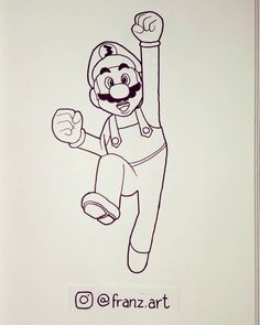 Inktober 2016. Day 3 - Mario. #inktober #inktober2016 #mario #mariobros #game #art #arte #drawing #draw #desenho #sketch #ink #doodle #artwork #character #characterdesign #videogame #animation #cartoon #childhood #nostalgia #sketchbook #artist #illustration #artistsoninstagram #personagem #fanart #franzart #franzartinktober
