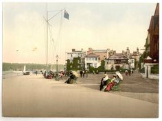latest addition Isle of Wight, Cowes, marine parade (i.e., promenade), England