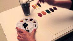 Jordfarver - Britta Johanson viser, hvordan man blander forskellige jordfarver