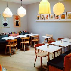 Petit Collage prints on wood at Mombini, a kids concept shop, cafe and playspace in France