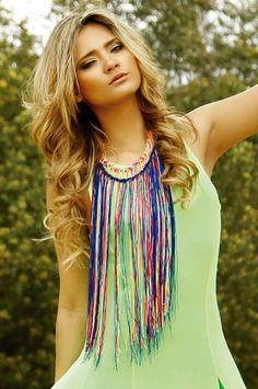 Oasis6 Maxi collar Spring multicolor Alejandra Valdivieso