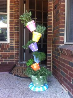 DIY topsy turvy plant tower