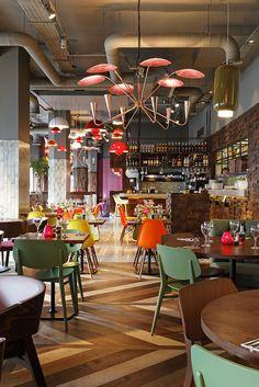 Las Iguanas Restaurant, Kingston designed by B3 Design