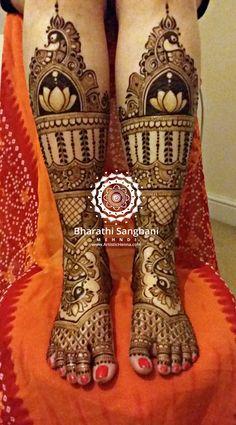 Full leg henna for a stunning bride
