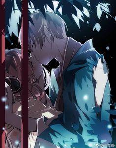 Sougo Okita x Kagura [OkiKagu], Gintama Couple Manga, Anime Couple Kiss, Anime Couples Manga, Romantic Anime Couples, Cute Anime Couples, Echii Anime, Anime Art, Anime Cover Photo, Gintama