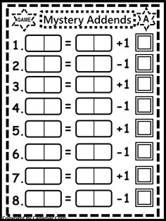 """Children love practicing """"missing addends"""" with this fun domino activity created by Little Geniuses."""