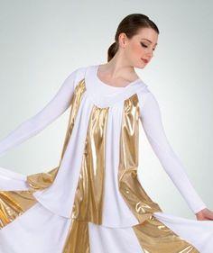 white plum NWT Praise Wear Cape// Skirt Metallic Gold Panels Liturgical Red