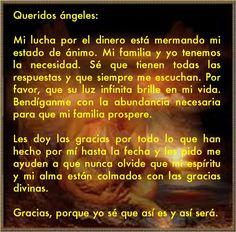 #UniversoDeAngeles Oración a los ángeles para mejorar la situación financiera y la circulación del dinero.