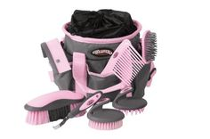 Weaver Leather Grooming Kit, Gray/Pink - http://www.darrenblogs.com/2016/12/weaver-leather-grooming-kit-graypink/