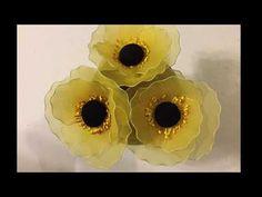 How to make nylon stocking flowers - Poppy V2.0 - YouTube