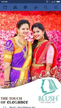 Makeup Art, Blush, Sari, Elegant, Beads, Fashion, Saree, Classy, Beading