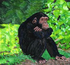 """The Thinker"" Watercolor on Artboard"