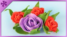 DIY How to make foam roses (ENG Subtitles) - Speed up Today I will show you fast and easy way to make roses made from foam paper. --- Needed items: - Foam paper - Marker - Scissors - Wooden skewer - Lighter - Aluminum foil - Glue gun - Roses How To Make Foam, Foam Roses, Diy Projects, Make It Yourself, Paper, Flowers, Youtube, Tutorials, Handyman Projects