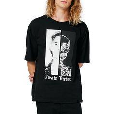 Men's Topman Justin Bieber Oversize T-Shirt (€41) ❤ liked on Polyvore featuring men's fashion, men's clothing, men's shirts, men's t-shirts, black, mens t shirts, mens oversized shirt and mens oversized t shirt