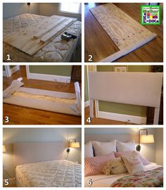 DIY Headboard 2020 Kreative DIY Kopfteil Ideen Moissanite Earrings, The Modern Brazi Diy Bed Headboard, How To Make Headboard, Headboard Designs, Headboards For Beds, Headboard Ideas, Homemade Headboards, Furniture Makeover, Diy Furniture, Modern Furniture