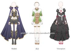 [CM] Monster Kingdom Outfit Sheet @LizzyDuffy by Aloise-chan.deviantart.com on @DeviantArt