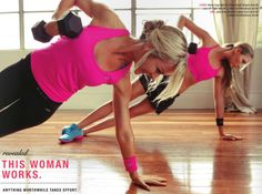 Love hit pink and black workout gear
