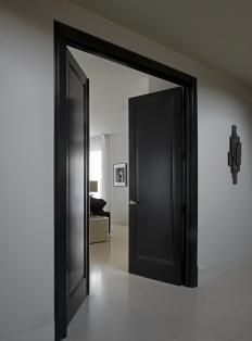 Beautiful black doors... #design
