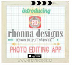 Rhonna Designs Photo Editing App
