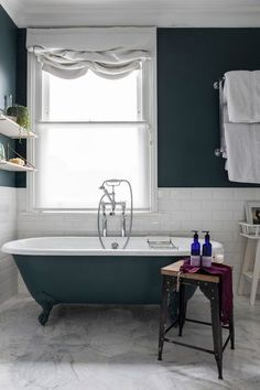 Dark Green Bathroom