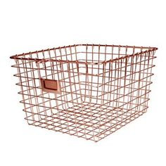 Features:  -Perfect storage solution for any room in the home.  -Open design lets you easily view everything in the basket.  -Convenient label holding plate lets you easily label the basket's content.