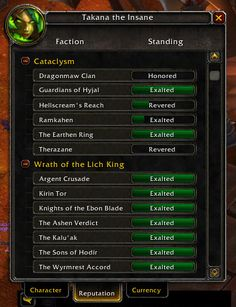 How to get 50 Exalted Reputations (A World of Warcraft Guide) Part 1