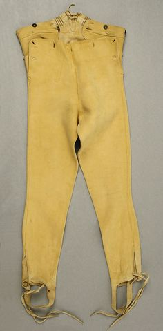 Trousers (Leather Breeches) 1800-1810 British.  Metropolitan Museum of Art.