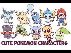How to draw Pokemon Cartoons for kids Reparto pokémon competitivos