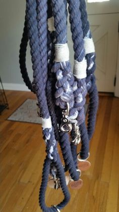 Charcoal Ombre Dog Leashes by Forever Mootsy