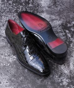 Gentleman Shoes, Derby Shoes, Crocodile, Oxford Shoes, Mens Fashion, Leather, Dress, Stuff To Buy, Accessories