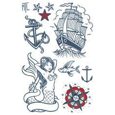 Amant des grands vents. Planche de tatouages temporaires dessiné à Montréal!
